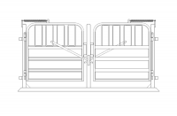 2x W Spreader and Gates 33in | 0.8m